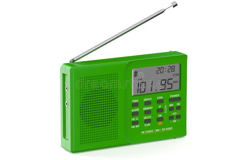 绿色数字式收音机 向量例证