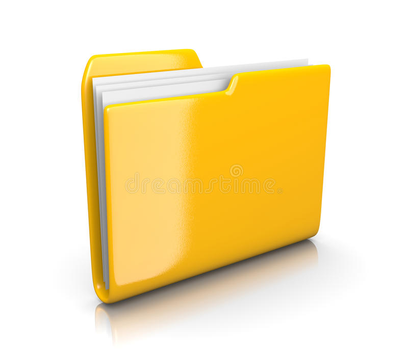 黄色文件文件夹 库存例证