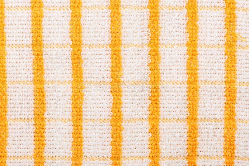 黄色方格的毛巾 免版税图库摄影