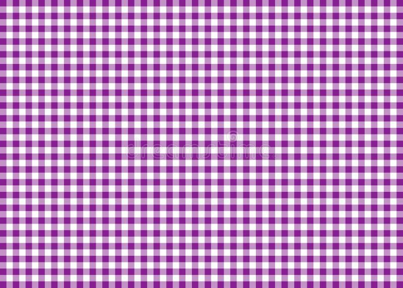 紫色方格花布样式背景 向量例证