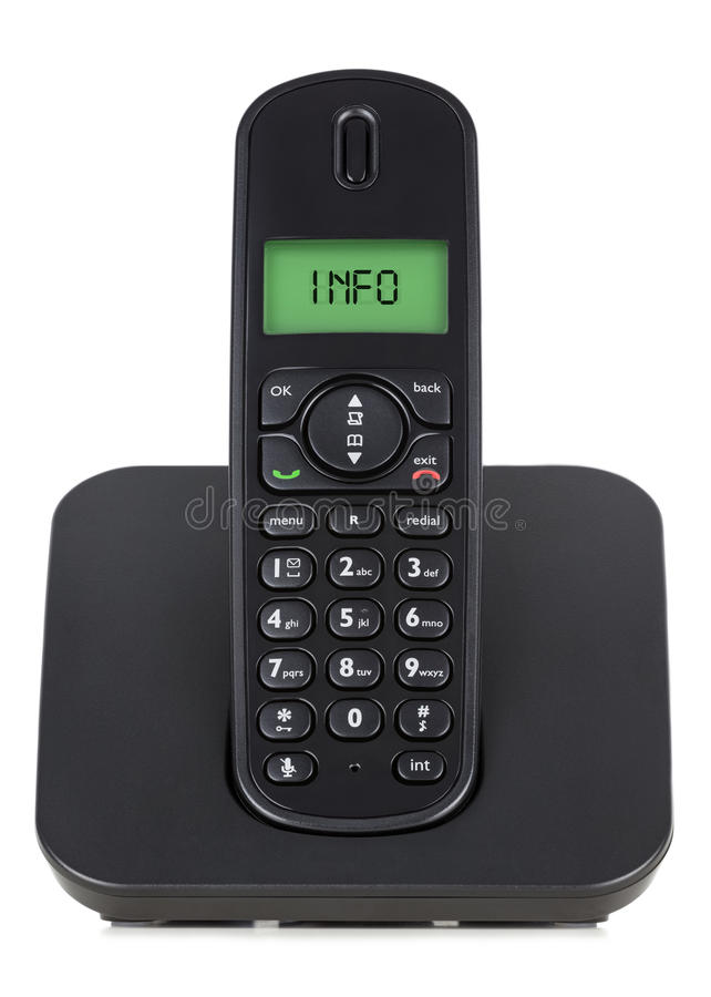 黑色无线电话 免版税库存照片