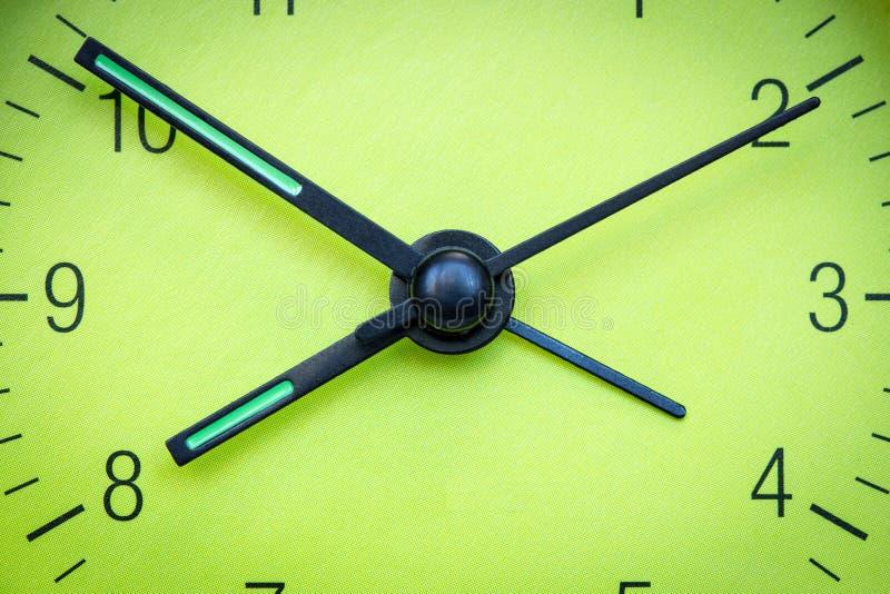 绿色时钟表盘 库存图片