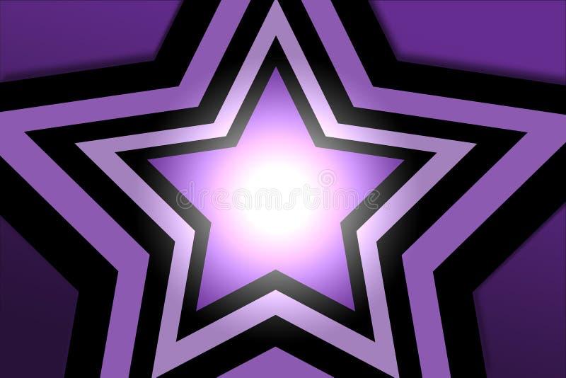 紫色星形 免版税库存照片