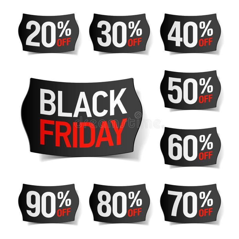 黑色星期五销售额 向量例证