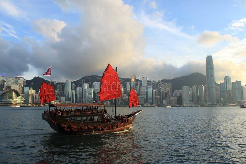 水色月/月球,维多利亚港口,香港 库存图片