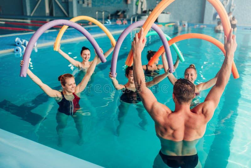 水色有氧运动,健康水上运动 库存照片