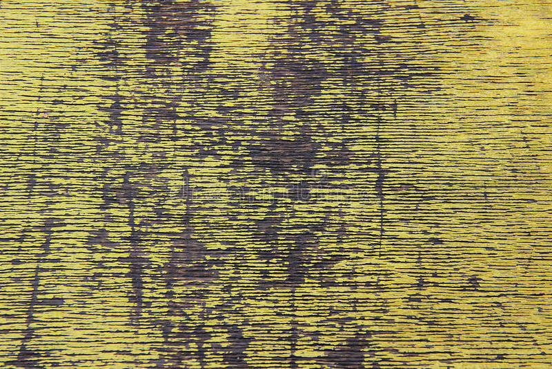 黄色木纹理 图库摄影