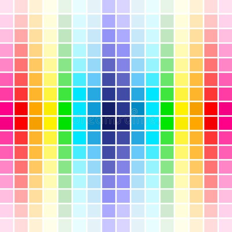 色板显示彩虹 向量例证