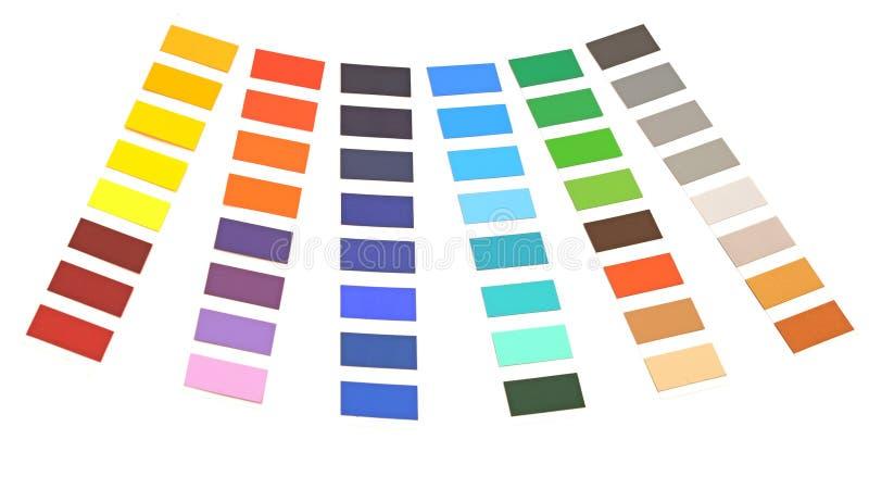 色板显示 免版税库存图片