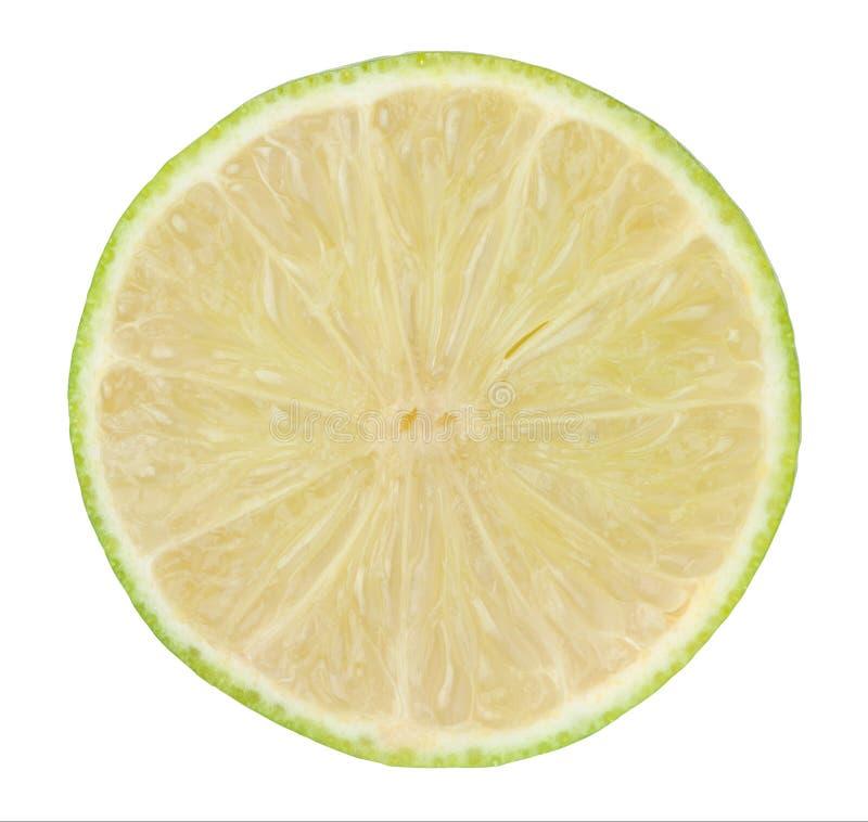 绿色柠檬的横断面 库存图片