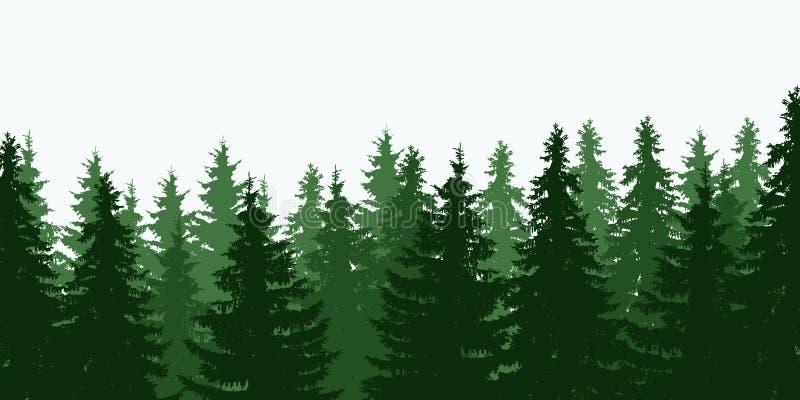 绿色树森林上面的传染媒介例证 皇族释放例证