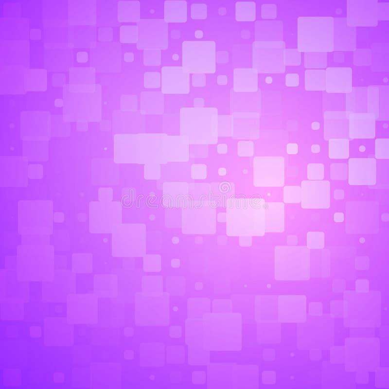 紫色桃红色发光的被环绕的瓦片背景 库存例证