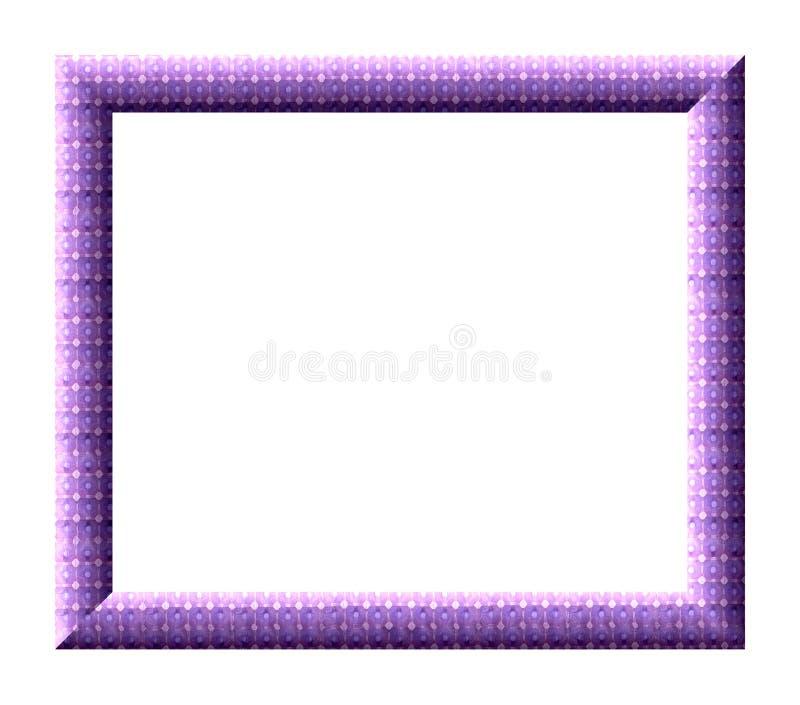 紫色框架 皇族释放例证