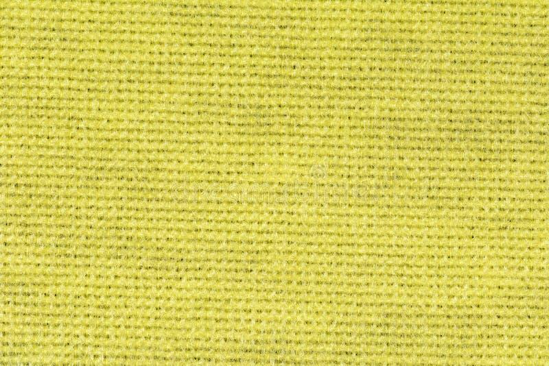 黄色桌布纹理背景,关闭 库存照片