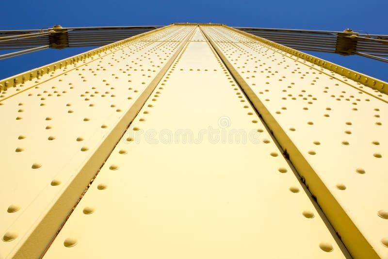 黄色桥梁结果 免版税库存照片