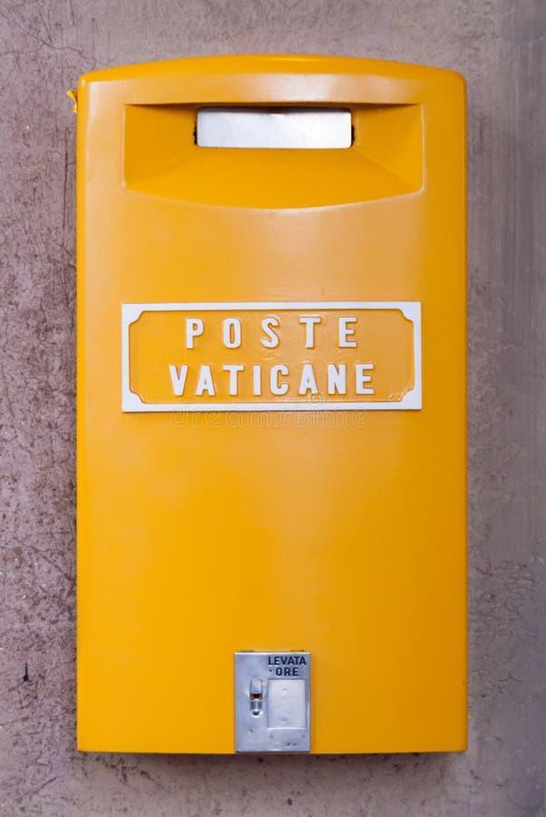 黄色梵蒂冈岗位箱子 免版税库存图片