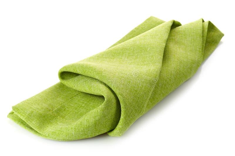 绿色棉花餐巾 免版税库存图片