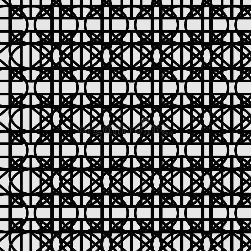 黑色模式白色 向量例证