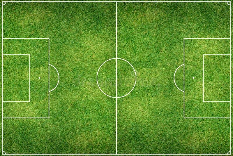 绿色橄榄球场领域 库存图片