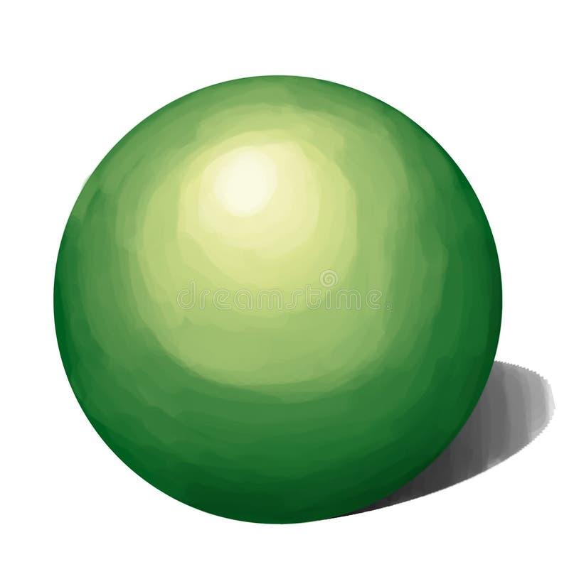 绿色欲望树荫形状 免版税库存图片
