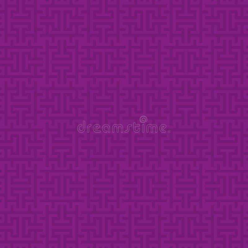 紫色正方形现代无缝的样式 库存例证