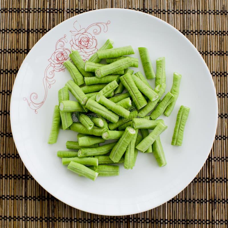 绿色母牛豌豆 免版税库存图片