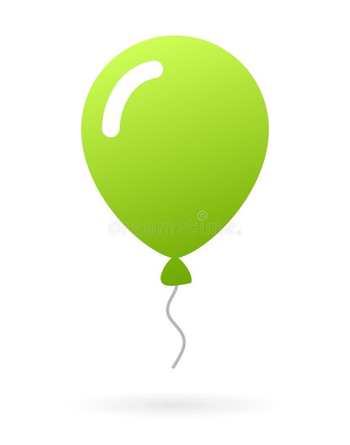 绿色气球 库存例证