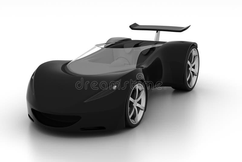 黑色汽车体育运动 向量例证