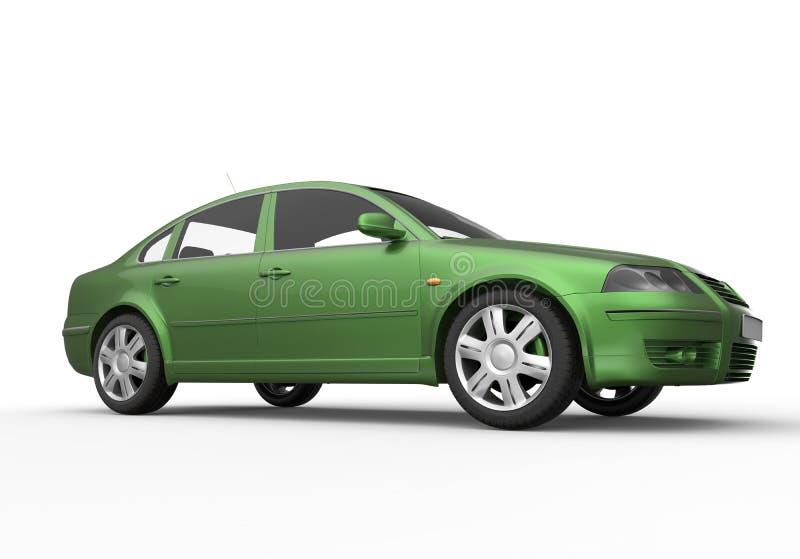 绿色汽车例证 皇族释放例证