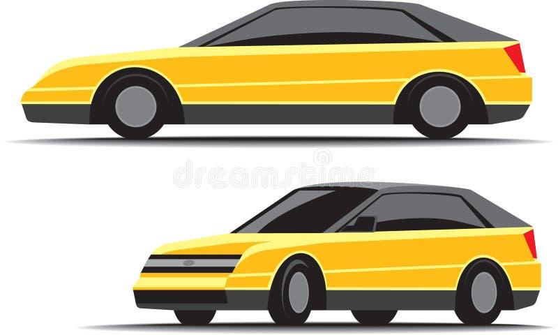 黄色汽车 库存例证