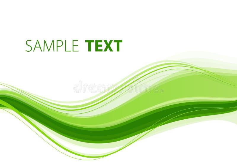 绿色波浪 向量例证