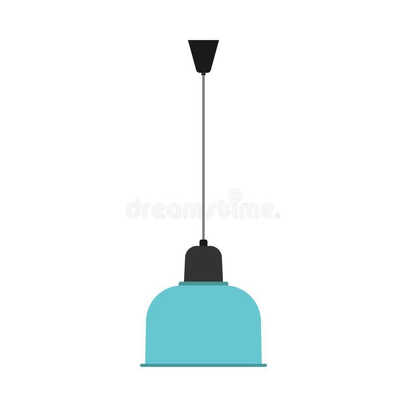 色泽枝形吊灯灯光装饰例证 室传染媒介象豪华内部设备天花板元素 向量例证