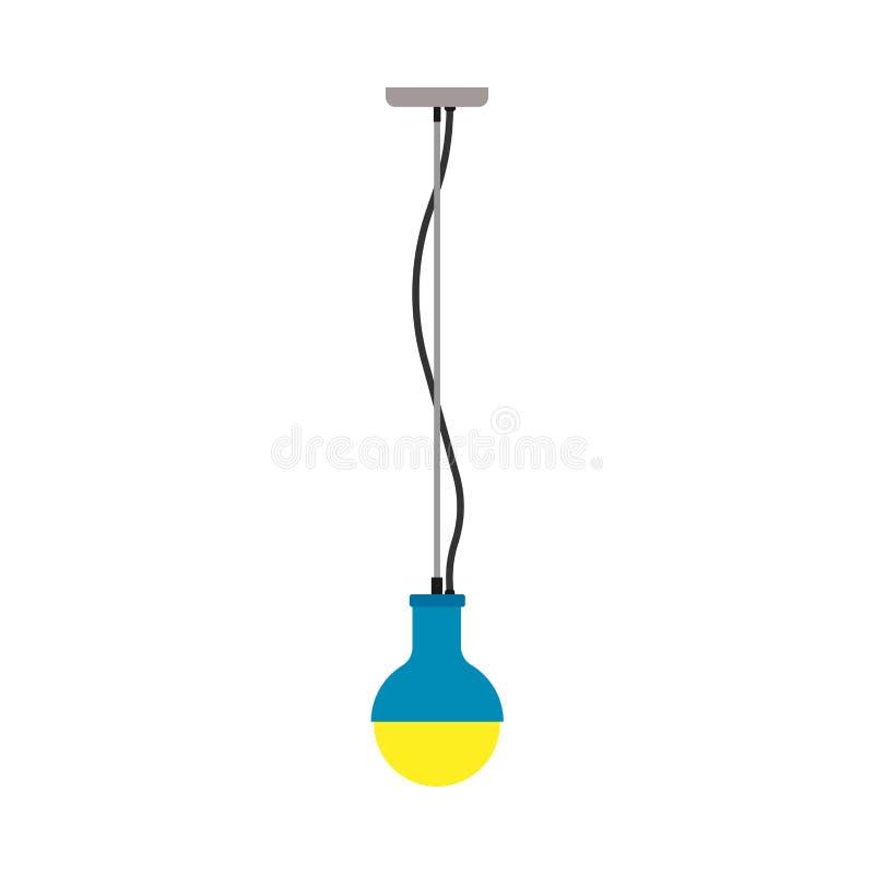 色泽枝形吊灯灯光装饰例证 室传染媒介象豪华内部设备天花板元素 库存例证