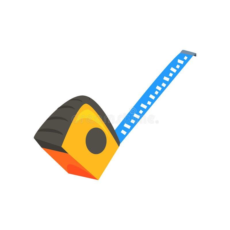 黄色测量的轮盘赌 五颜六色的动画片传染媒介例证 库存例证