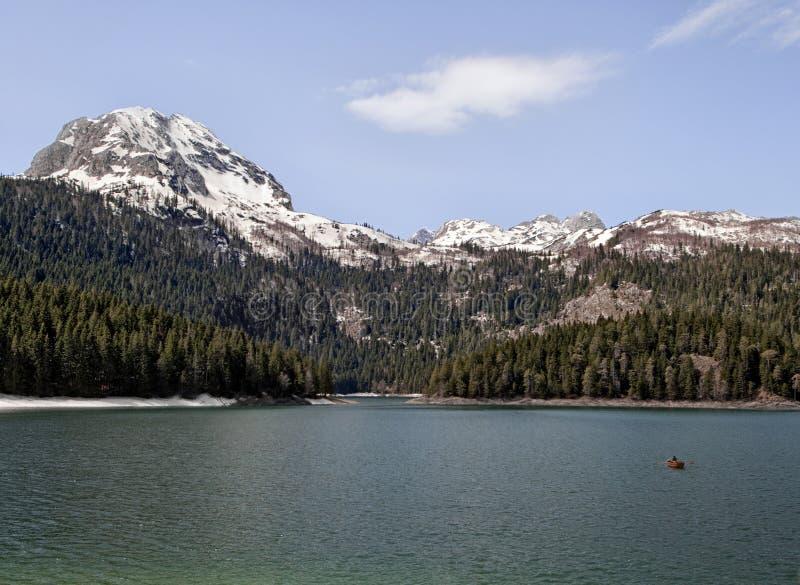 黑色湖在Montenegro 库存图片