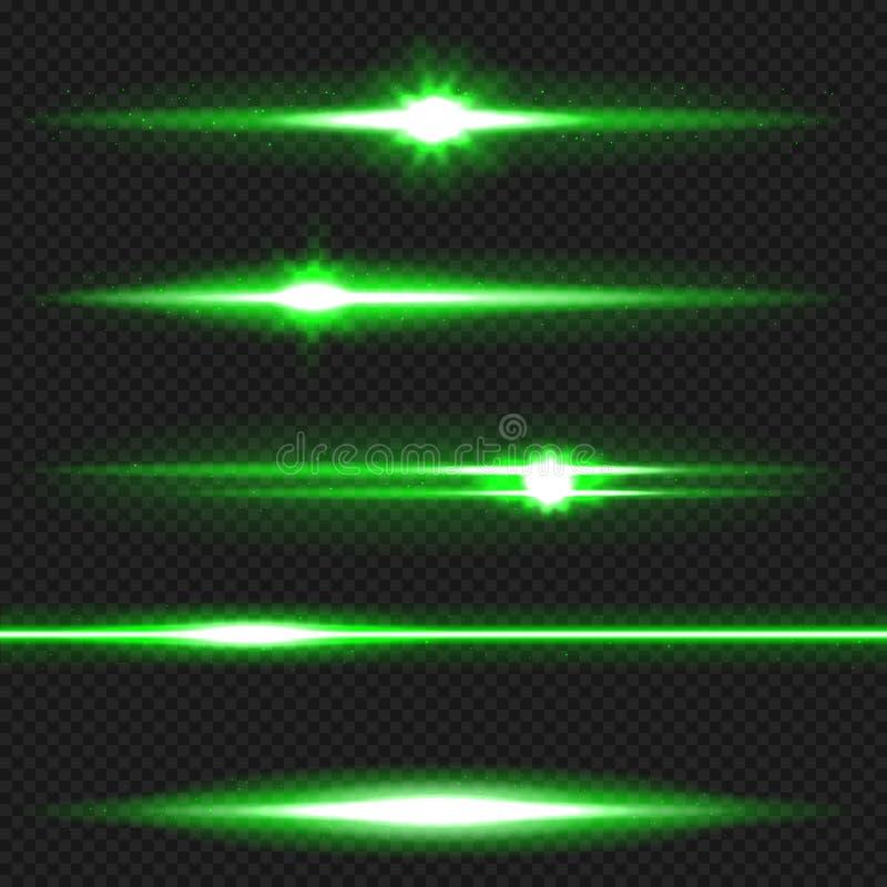 绿色激光束组装 皇族释放例证