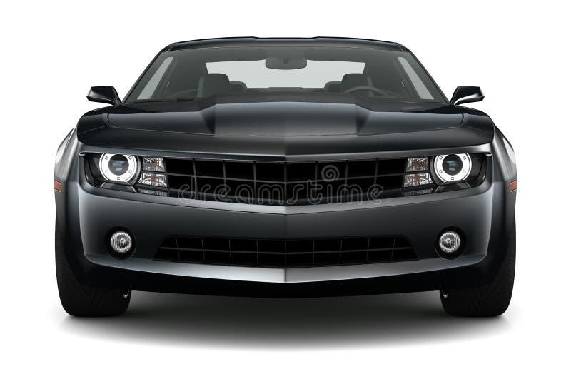 黑色炫耀小轿车汽车 皇族释放例证