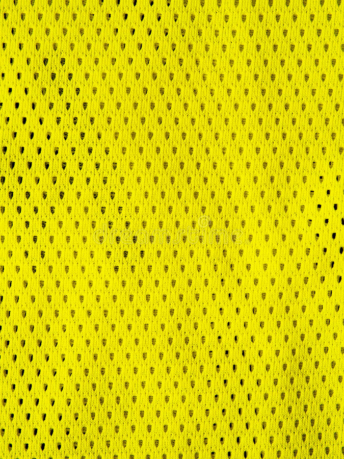 黄色炫耀球衣 库存照片
