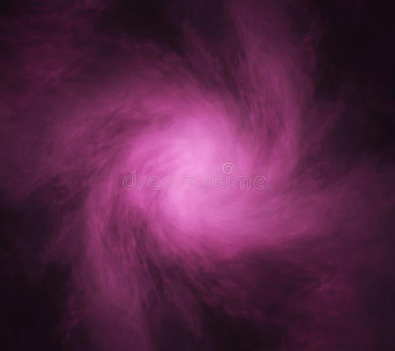 紫色烟的抽象纹理在黑背景的 库存照片