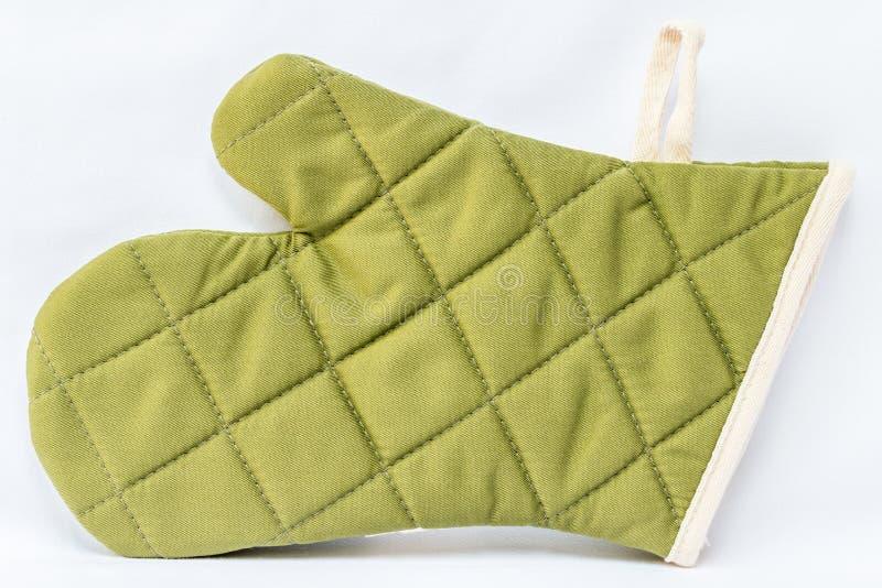 绿色烤箱手套 库存照片