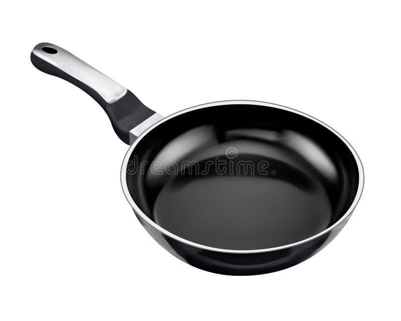 黑色煎锅 向量例证