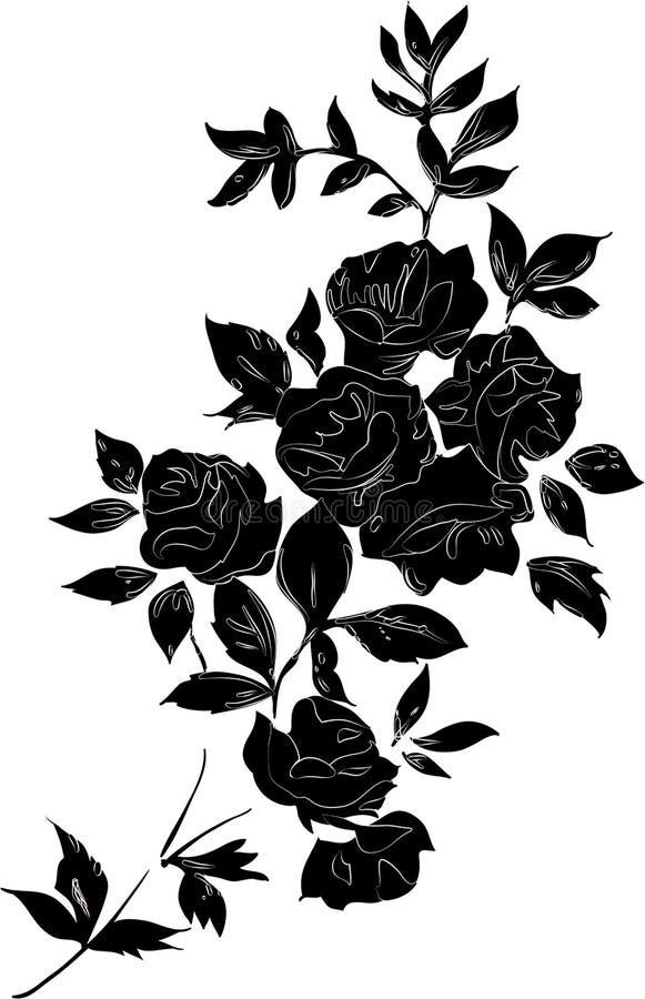 黑色玫瑰 库存例证