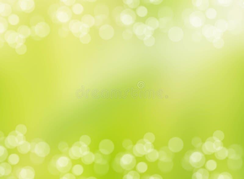 绿色环境起泡横幅和边界 库存图片