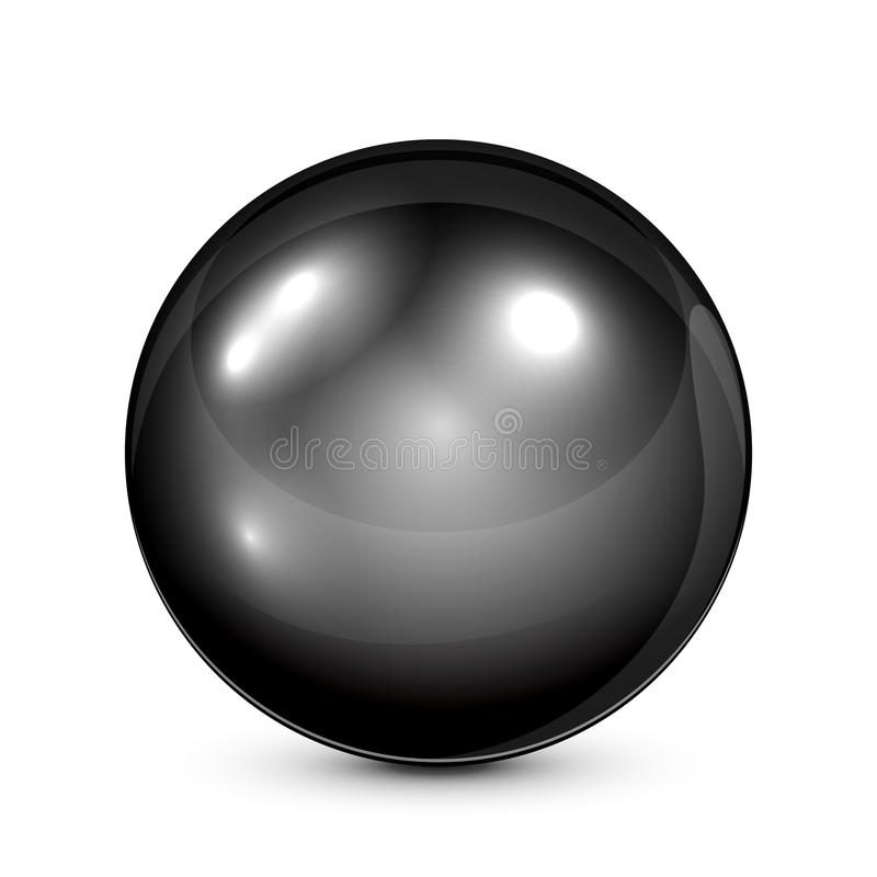黑色珍珠 皇族释放例证