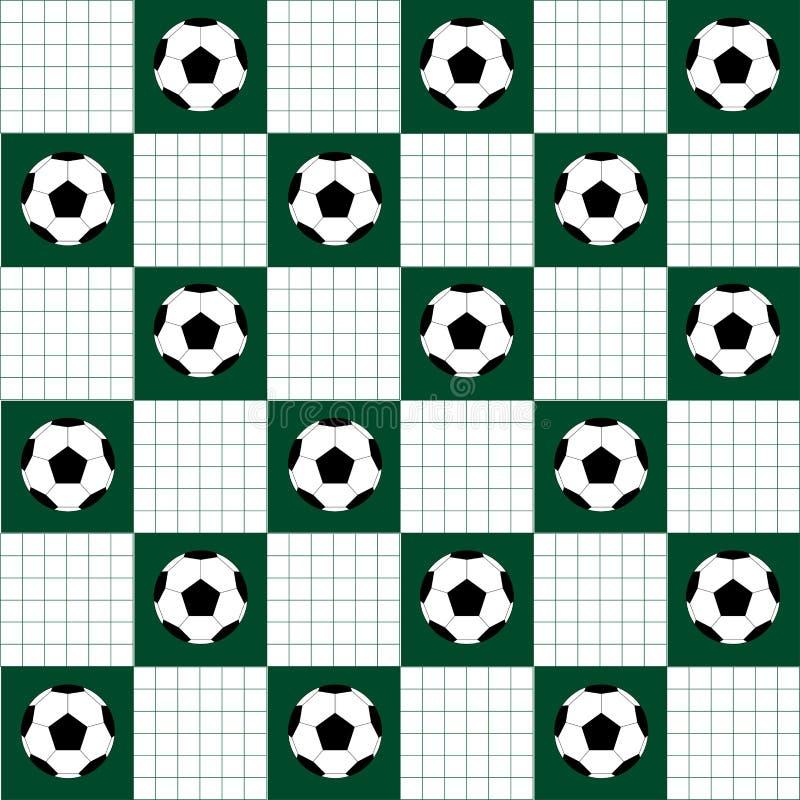 水色球取火镜足球 球橄榄球必须足球体育运动 橄榄球球绿色白色棋盘金刚石背景 皇族释放例证