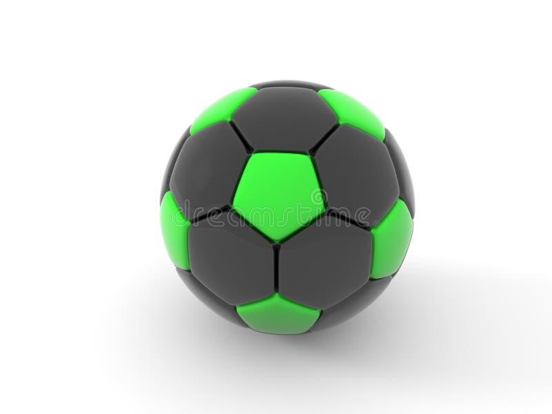 水色球取火镜足球 背景剪报查出的对象路径白色 3d回报 向量例证