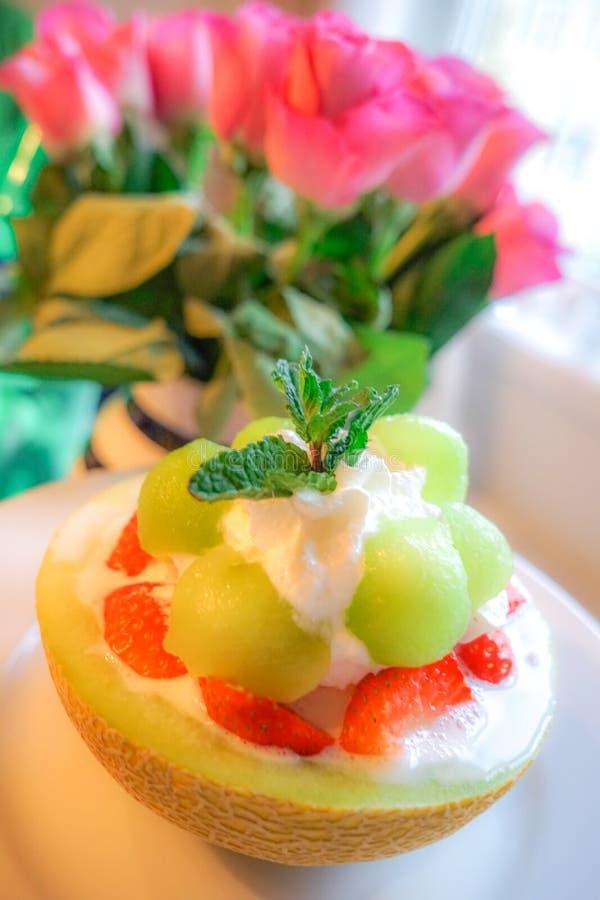 绿色瓜, Bingsu 库存图片