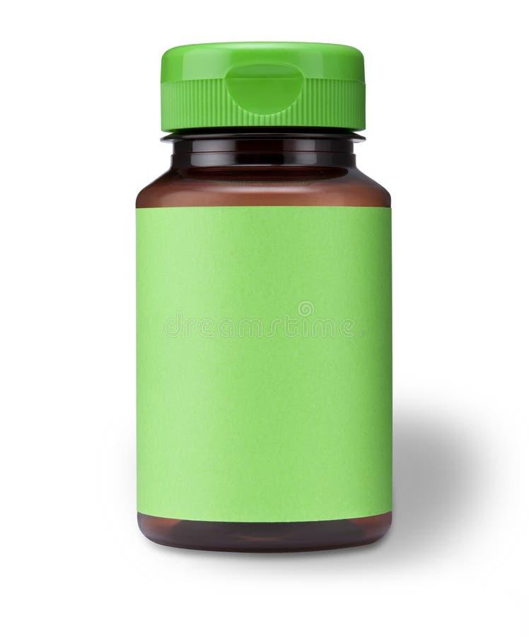 绿色瓶 库存照片