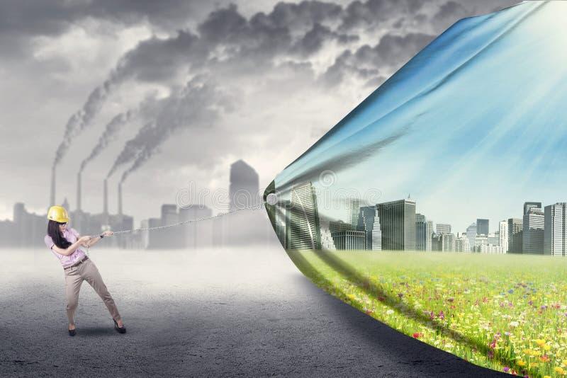 绿色生存概念 免版税库存图片