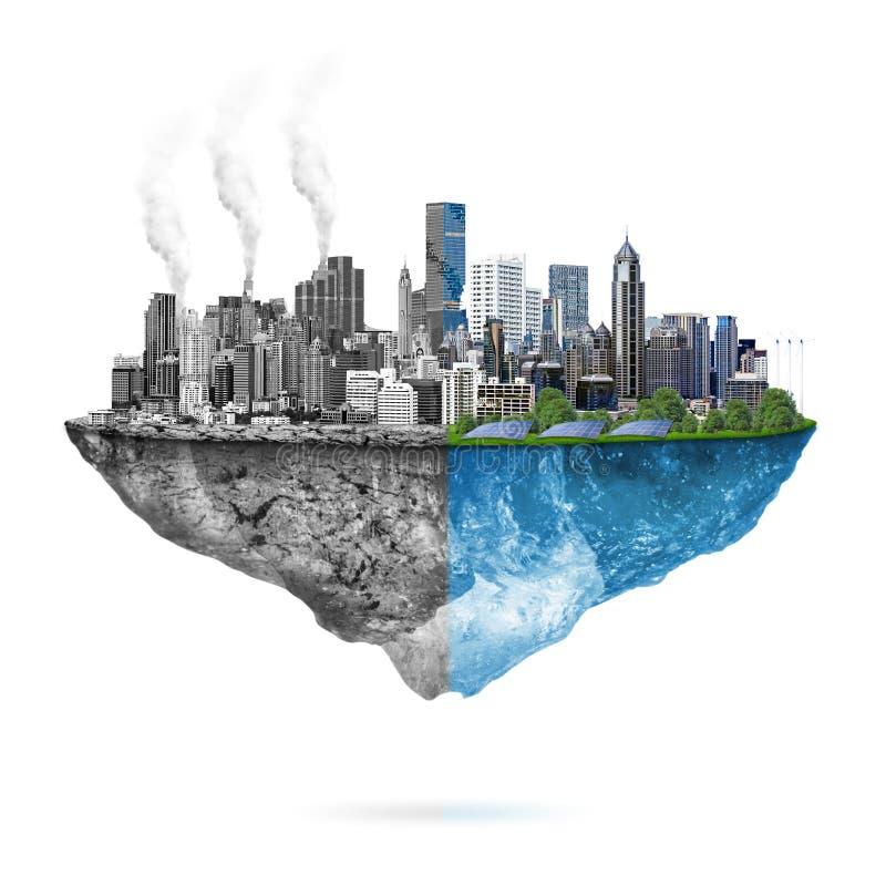 绿色生态对 污染 皇族释放例证